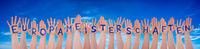 Hands With Europameisterschaften Means European Championship, Blue Sky