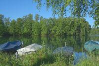 Venekotensee im Maas-Schwalm-Nette Naturpark am Niederrhein nahe Brueggen,Deutschland