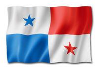 Panamanian flag isolated on white