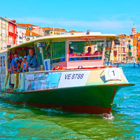 Venetian water bus Vaporetto