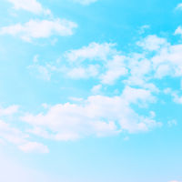 Pastel blue sky with clouds
