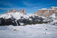 Ski resort in Dolomites, Italy