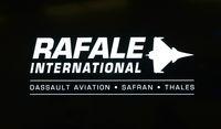 Logo von Rafale International, Flugzeughersteller Dassault Aviation, Frankreich