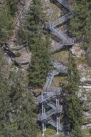 Steiganlage am Stuibenwasserfall