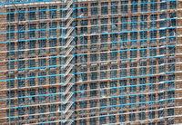 Scaffolding at a building facade
