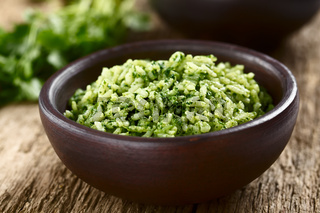 Mexican Arroz Verde Green Rice Dish