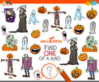 one of a kind task with Halloween characters