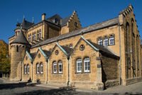 View to the old school in the german city Goslar