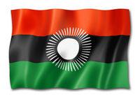 Malawi flag isolated on white
