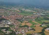 Aerial view of San Maurizio Canavese