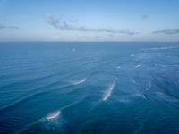 Drone picture of waves on the Indian ocean.