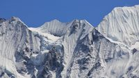 Detail of mount Gangchenpo, Nepal. Scene in the Langtang National Park.