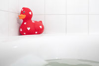 Large red rubber duck