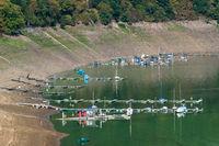 Boats at the german lake Edersee