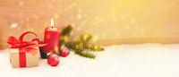 Weihnachten und Advent Header mit Kerze
