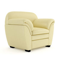A comfortable chair on a white background. 3D rendering.