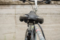Bicycle saddle is broken from behind