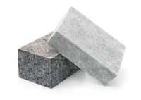 Unpolished granite and marble stone blocks