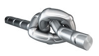 Metal fittings knot