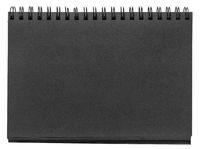 black paper spiral sketchbook