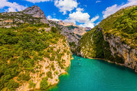 The cliffs of Verdon Canyon, France