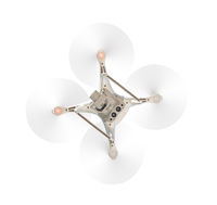 Drone Quadcopter From Below Isolated On A White Background