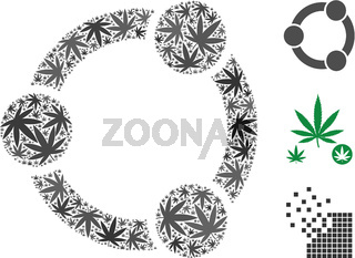 Network Relations Mosaic of Weed Leaves