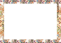 White Frame Background with Mosaic Rounded Edges