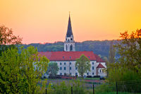 Greekcatholic cathedral in Krizevci sunset view