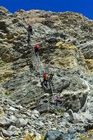 Alpiner Weg zur Monte Rosa-Hütte