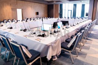 interior of big modern conference room