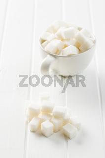 Sweet sugar cubes.