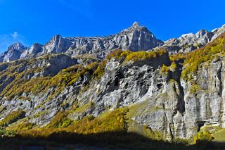 Gipfel Pointe de Bellegarde, Cirque du Fer a Cheval, Sixt-Fer-a-Cheval, Giffre Tal, Frankreich