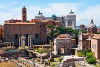 Ancient ruins Roman Forum
