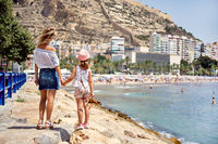 Mother and daughter in Alicante city
