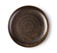 Empty ceramic round plate