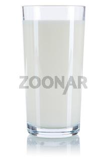 Milch Glas Milchglas freigestellt Freisteller isoliert
