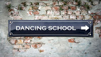 Street Sign to DANCING SCHOOL