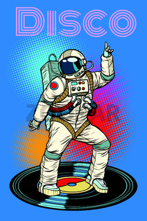 Disco. Astronaut dances
