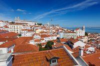 Historic old district Alfama in Lisbon