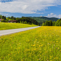 Asphalt road in Austria
