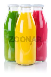 Saft Orangensaft Smoothie Smoothies Flasche Fruchtsaft Hochformat freigestellt Freisteller isoliert