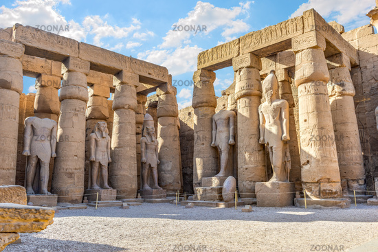 Statues in Luxor temple