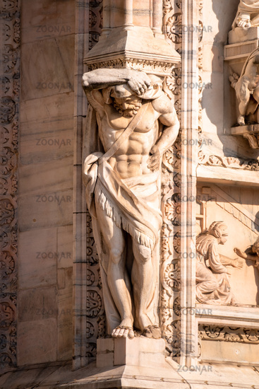 statue at Cathedral Milan Italy