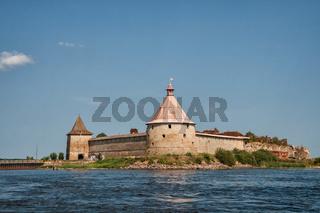 Fortress Oreshek on Ladoga lake