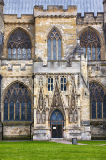 The north entrance to the Exeter Cathedral (Cathedral Church of Saint Peter). Exeter. Devon. England