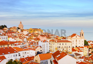 Lisbon Old Town skyline, Portugal