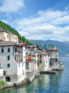 der Ort Brienno am Comer See,Lombardei,Italien