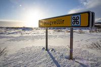 Wegweiser Þingvellir