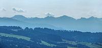 Alpensicht im Dreiländereck, Deutschland, Österreich und Schweiz